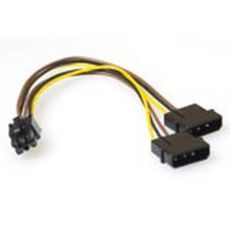 ACT Voedingsverloop intern 4 pins molex - 6 pins PCI-E