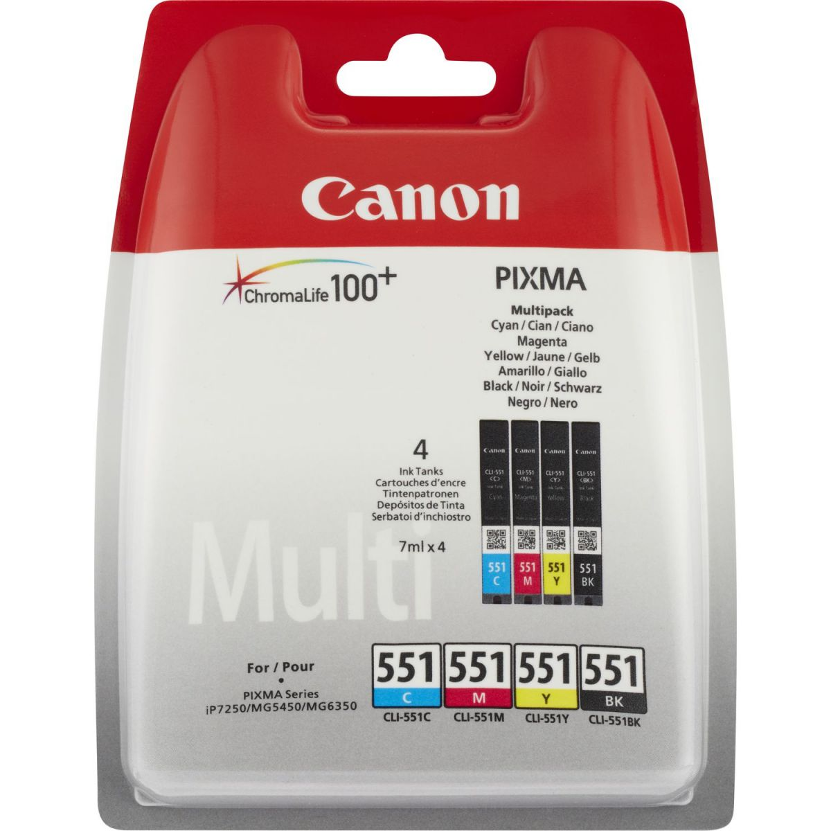 canon cli551 bkcmy inktcartridge multipack