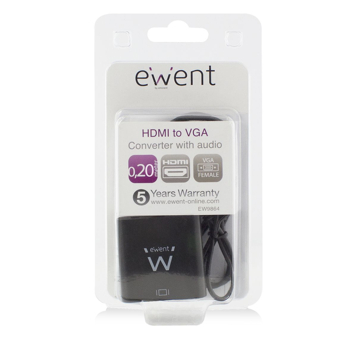 ewent ew9864 hdmi to vga converter with audio 1920x1200