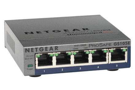 netgear prosafe gs105pe gigabit switch poe 5 poorts