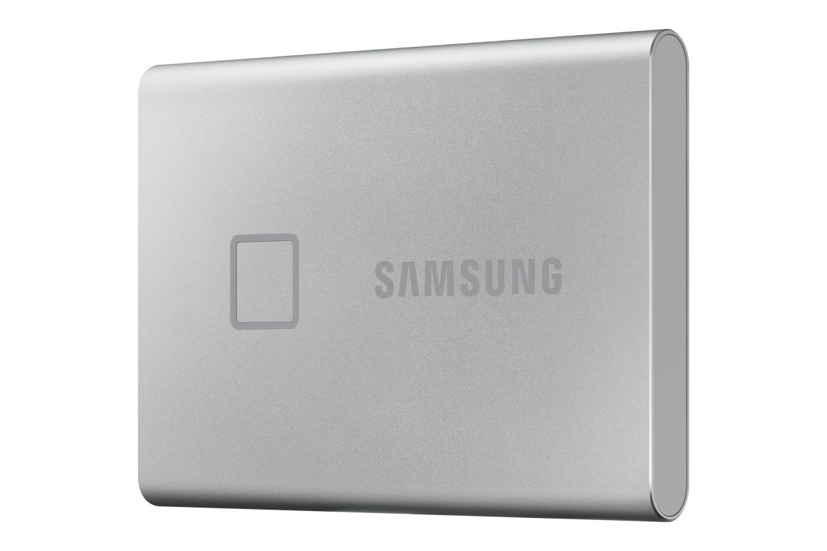 samsung portable ssd t7 touch 500gb zilver