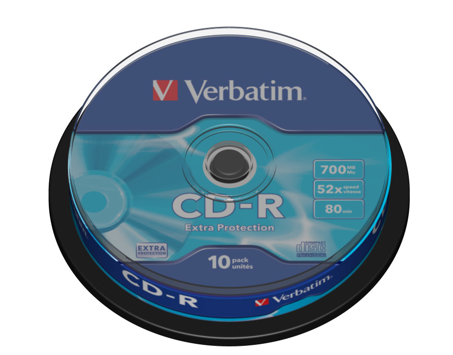 verbatim cdr 700 gb spindel 10st